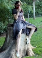 Sitting on a stump eating your liver.. by Feeorin215
