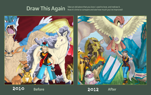 Drawn Again Pokemon by Doodlee-a