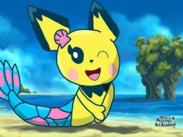 Mermaid Pichu by carmenramcat