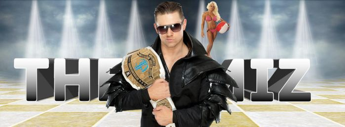 The Miz Facebook Cover (featuring Maryse) by ChrisNeville85