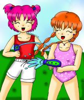 CC-Water Fight!!!! by Animecolourful