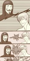 Gin vs V - Epic Smiley Battle by zumart