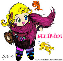 Sandman Chibi- Delirium colored by Midniteoil-Burning