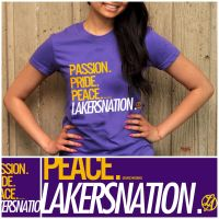 Lakers Nation T-Shirt Design by IshaanMishra