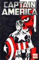 Captain America Sketch Cover by SeanRM