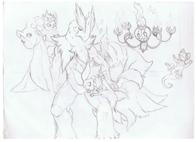 Nate's Pokemon more sketches by tigersylveon