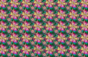 Fractal Flower Tiles by wolfepaw