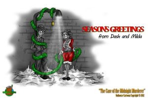 Season's Greetings from Dash and Milda by OuthouseCartoons