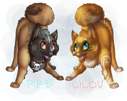 Pike And Lilou by xKOVAKtheWOLFx