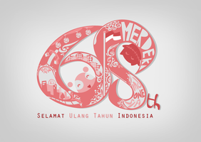 68th Indonesia Birthday by supperfrogg