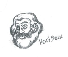 Karl Marx sketch by Sovietfuntime