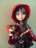 ever after high + lalaloopsy Cerise Hood by Phoenixwingcreations