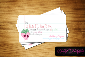 Skullberry Business Card by WayvDesigns