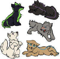 Wolf puppies adoptables ONE LEFT! by Zari-Adoptables
