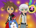 Sora and Riku with friends~ COLORED! by MochiKitsune13