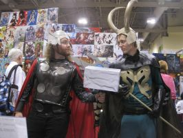 thor and loki by WhiteFox89