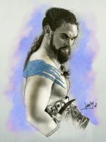 Game of thrones Khal Drogo by karlyilustraciones