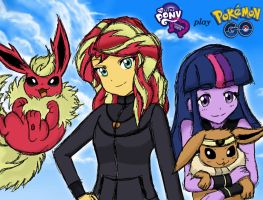 Sunset and Twilight - Pokemon GO Trainers by angeltorchic