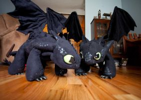 2nd Toothless with My Toothless by thekimeleon