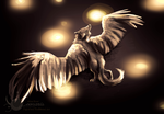 Two Hour Painting: Winged Wolf by Loonaris