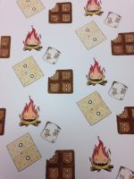 Campfire s'mores  by Isabella-Insanity