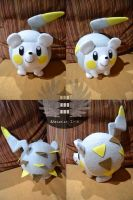 Life size Togedemaru plush Pokemon by ArtesaniasIris