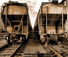 Train Cars and Tracks by alimuse