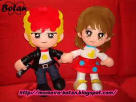 Yaeko and Go plush version by Momoiro-Botan