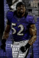 The GOAT Ray Lewis by SilverbackInc
