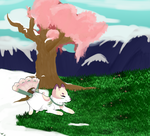 .:YCH:.Momo Into Spring by Starr-Hime