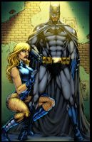 Batman_Black Canary Colors by MARCIOABREU7
