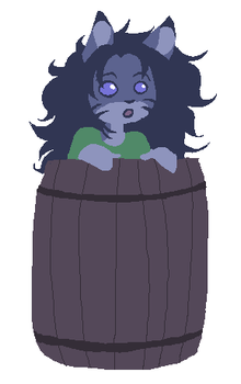 Toby in a Barrel by specialsari