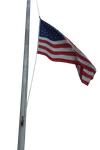USA Flag on Pole 2 by WDWParksGal-Stock