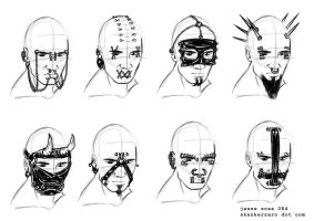 Punk Facemask concepts by skankerzero