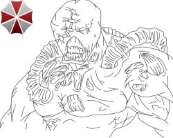 My Drawing of Nemesis from Resident Evil by Vampirelover723