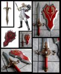 Patroclo Sword and Shiedl by alsquall