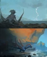 Dragon speedpaints by Raph04art