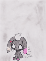 Emo Bunny by CarryOnLostFriends