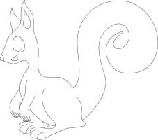 Squirrel WIP Lineart by WDLady