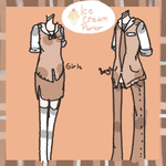 Ice cream parlor:uniforms by hanecco
