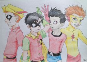 The Boys of Teen Titans by MiuNyankoDesu