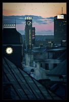 Riga from a rooftop by versatile-lv