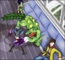 HC12-072 R1: Battle Subway Brawl by PhoenixSapphire