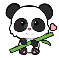 Panda loves bamboo by Irelys