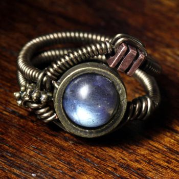 Labradorite Steampunk ring by CatherinetteRings