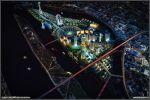 New town Aerial Night by diegoreales
