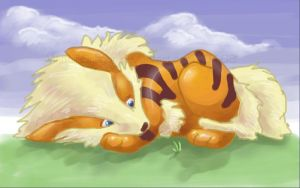 Sad Arcanine by WindieDragon