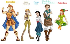 Genderbend Disney males 1 by legend654