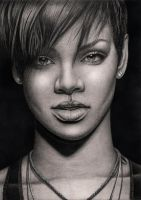 'RIHANNA' graphite drawing by Pen-Tacular-Artist