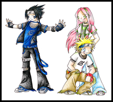Naruto Team 7 by Halo-2-fan